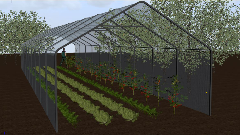 grønnsaker tunnel dyrking utenfra